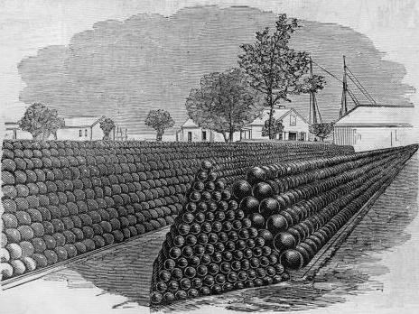 empilement de sphères: balles de canon