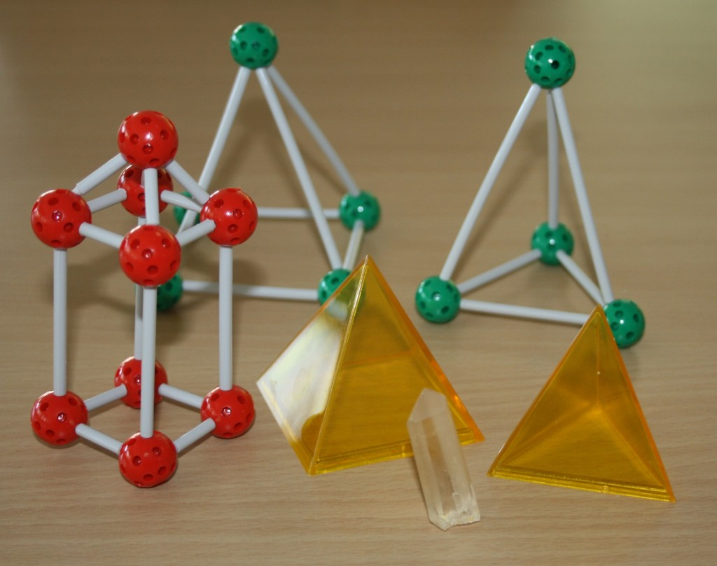 Modello a piramide: il quarzo