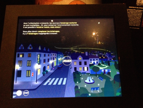 Jeu interactif sur la pollution lumineuse