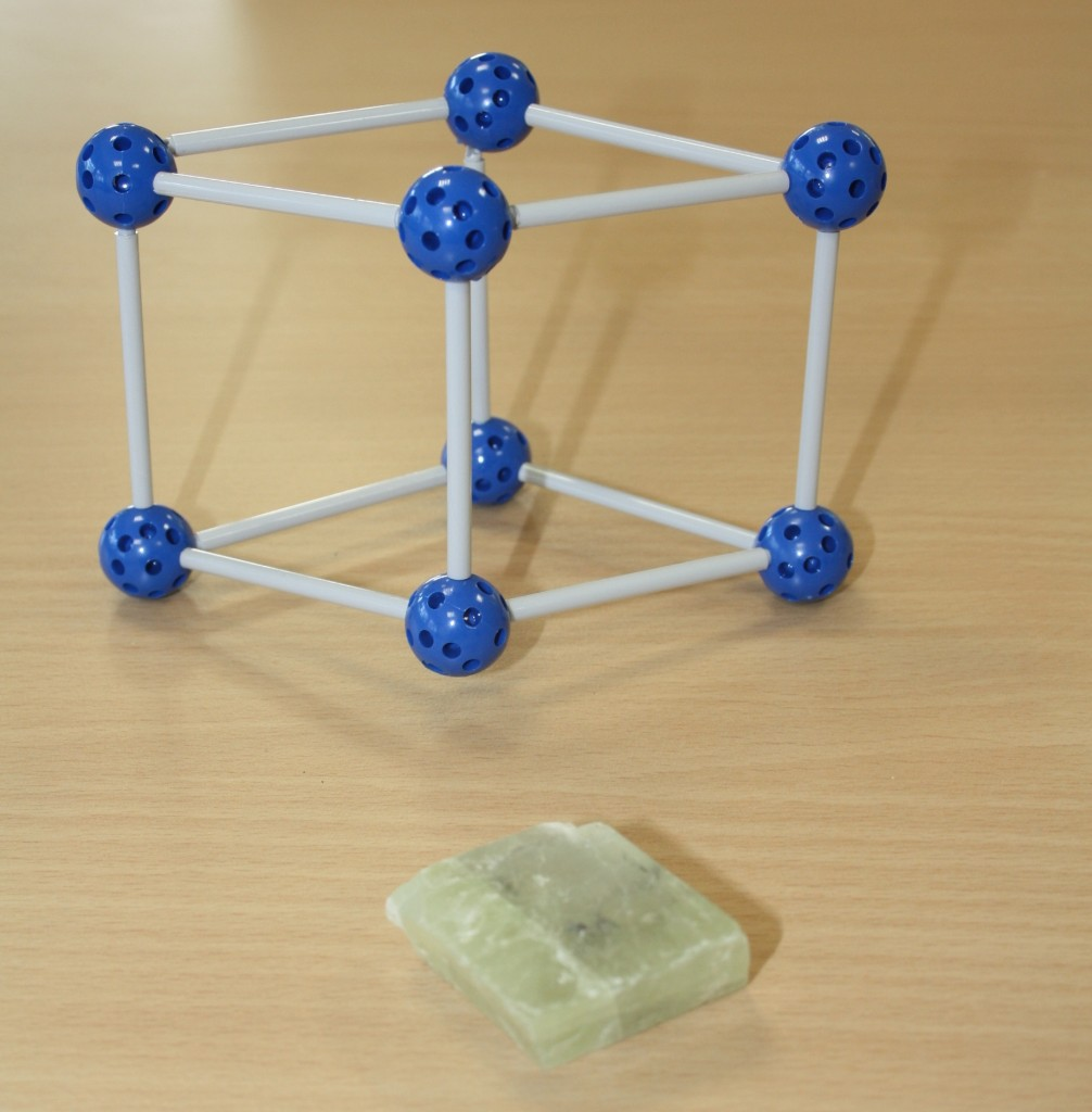 Model à rhomboèdre : la calcite