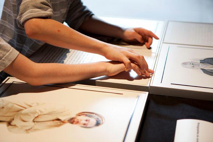 France, Paris, juin 2012 Universcience Le Palais de la découverte Exposition 'Au doigt et à Louis' Sophie Chivet / Agence VU'