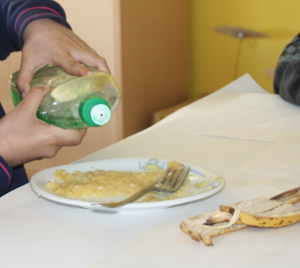 savon liquide vaisselle extraction ADN banane tutoriel