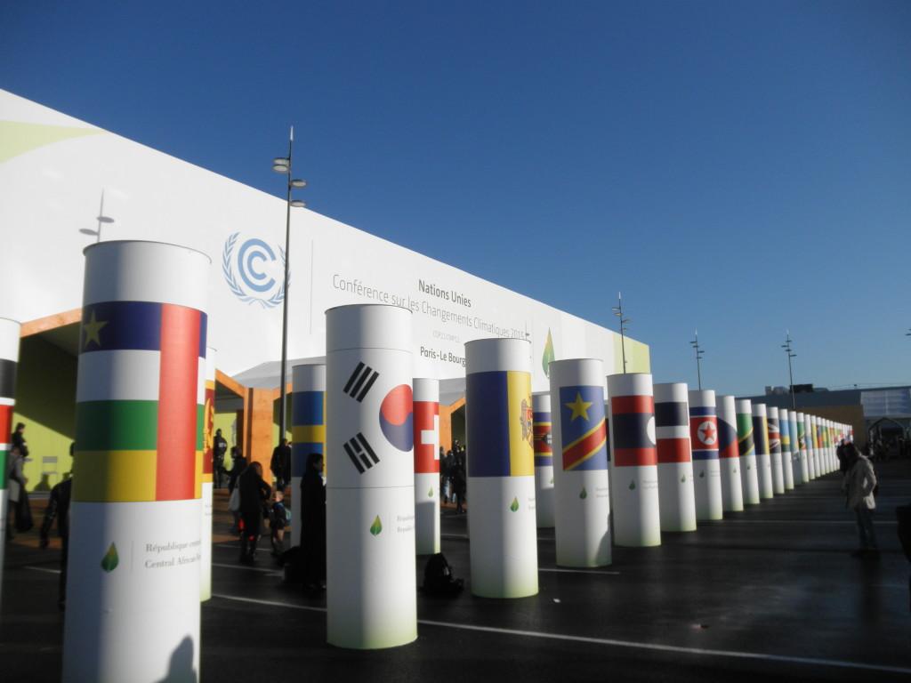 Entrata principale della COP21, sede delle negoziazioni, vietata al pubblico