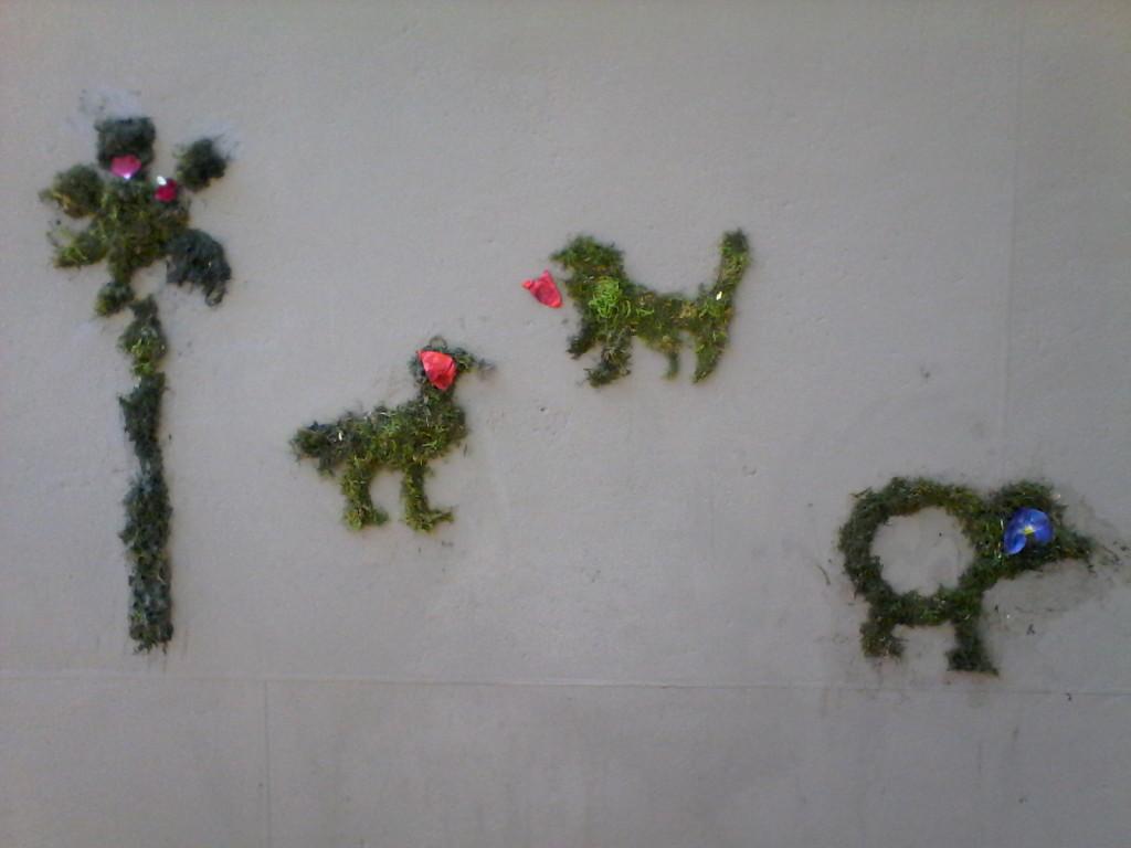 graffiti vegetali muschio sviluppo sostenibile attività bambini
