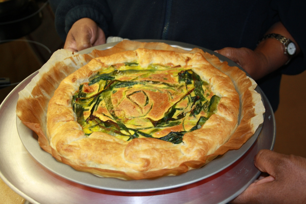 ricetta torta di verdure verde dei porri graffiti vegetali muschio sviluppo sostenibile attività bambini