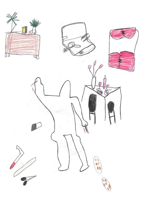 disegno scena del delitto