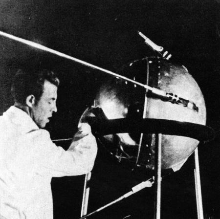 Lo Sputnik, lanciato dall'Unione Sovietica nel 1957. Foto NASA